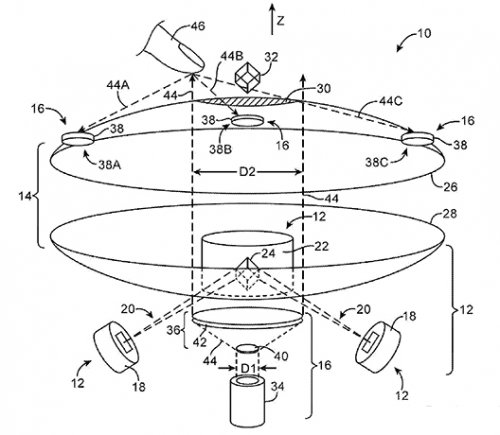 Apple applies for patent on 'Interactive Three-Dimensional Display System'