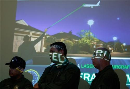 Feds, pilots warn of lasers pointed into cockpits