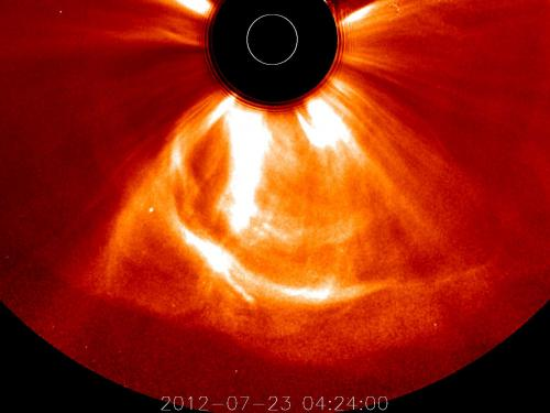 Fierce 2012 magnetic storm barely missed Earth
