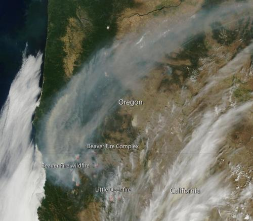 Fires in California and Oregon
