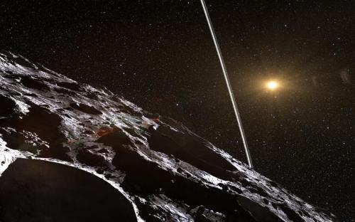 First ring system around asteroid