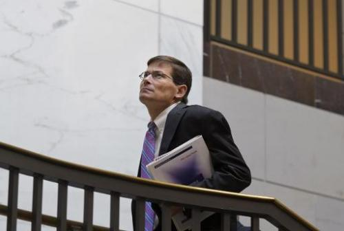 Former CIA Director Michael Morell is seen November 28, 2012 in the Senate Visitors Center of the US Capitol in Washington