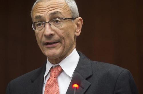 Former White House chief of staff John Podesta in Washington, DC, on February 18, 2014