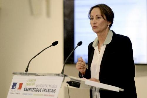 French Environment and Energy Minister Segolene Royal delivers a speech about energy transition on June 18, 2014 in Paris