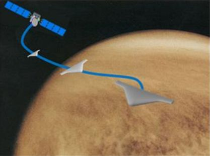 Researchers mulling inflatable airship VAMP for flying the skies of Venus