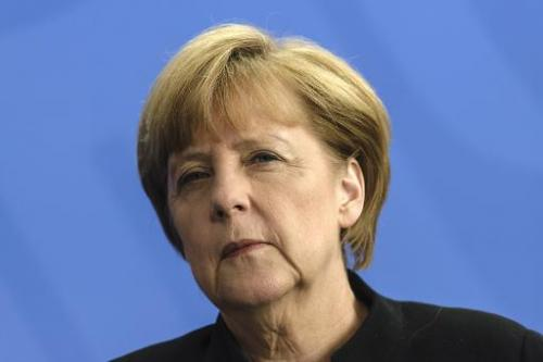 German Chancellor Angela Merkel attends a press conference in Berlin on July 2, 2014