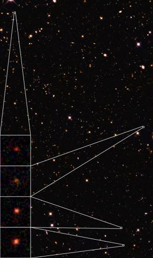 Granny galaxies discovered in the early universe