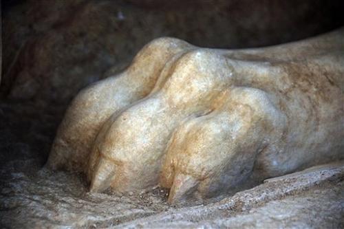 Greek archaeologists enter large underground tomb
