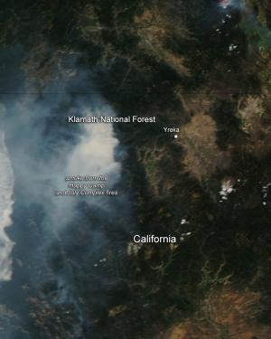 Happy Camp and July Fire Complexes in California