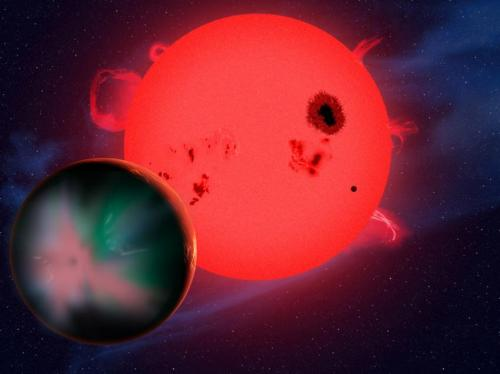 Harsh space weather may doom potential life on red-dwarf planets