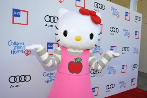 Hello Kitty arrives at the 1st Annual Children Mending Hearts Style Sunday in Beverly Hills, California on June 9, 2013