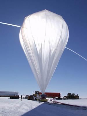 Hoisting a telescope with helium