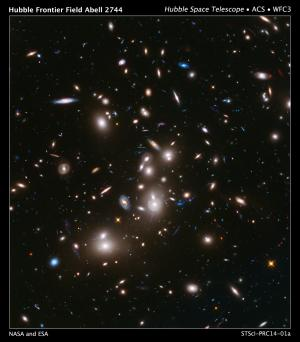 Hubble's first frontier field finds thousands of unseen, faraway galaxies