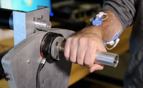 Human arm sensors make robot smarter