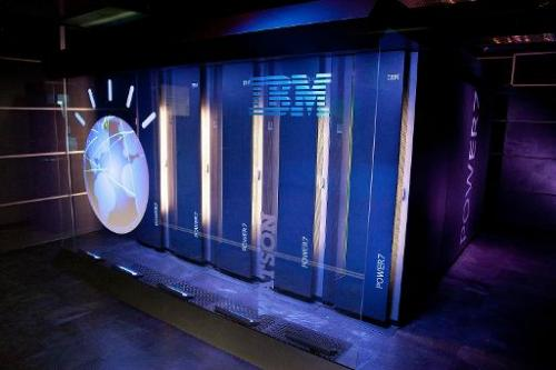 IBM's 'Watson' computing system at the IBM T.J. Watson Research Center on January 13, 2011 in Yorktown Heights, New York
