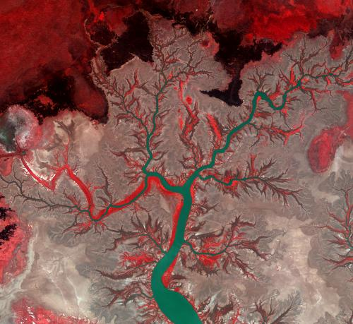 Image: Australia's Kumbunbur Creek from orbit