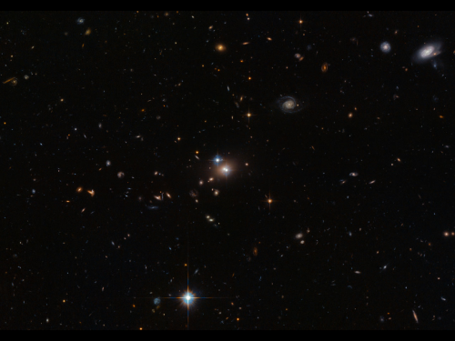 Image: Gravitational lensing in galaxy YGKOW G1