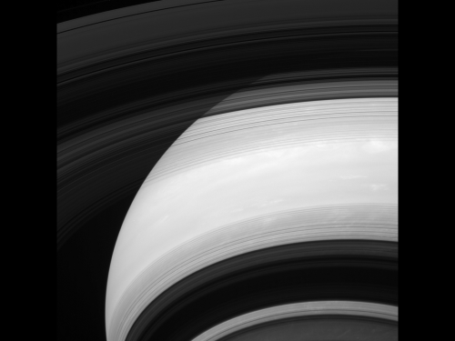 Image: The unilluminated side of Saturn's rings