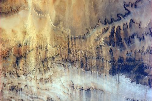 Image: Windswept valleys in Northern Africa