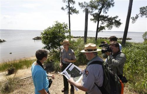 Interior chief: Jamestown at risk from rising seas