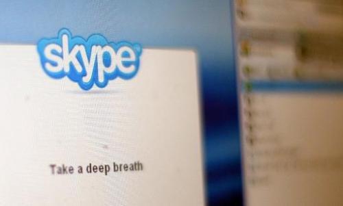 In this photo illustration, the Skype internet phone program is seen September 1, 2009 in New York City