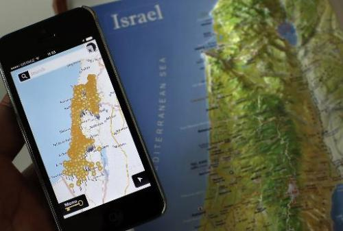 ISRAEL-PALESTINIANS-CONFLICT-TECHNOLOGY-NAKBA-MAPS