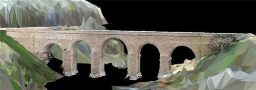 Laser and radar unveil the secrets of roman bridges