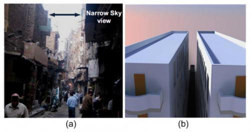 Let the sun shine in: Redirecting sunlight to urban alleyways