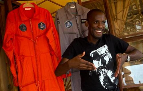 Mandla Maseko, who beat off a million other entrants to be selected as one of 23 people who will travel into space, speaks to a