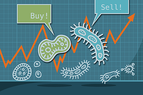 Microbes buy low and sell high