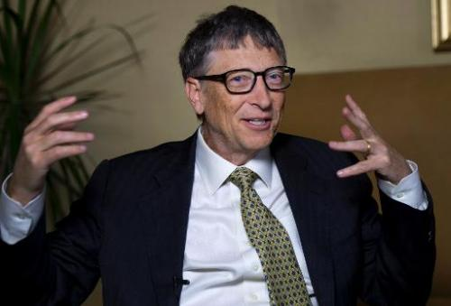 Microsoft's Bill Gates answers questions during an interview on January 21, 2014 in New York