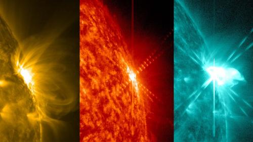 Mid-level solar flare seen by NASA's SDO