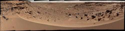 NASA Mars rover's color view of likely route West