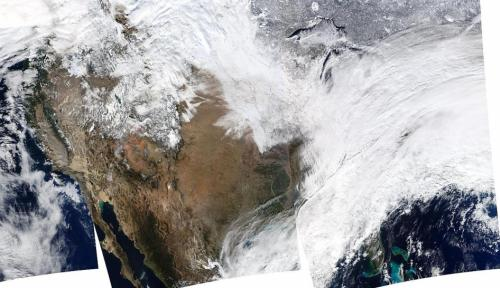 NASA's aqua sees massive winter storm