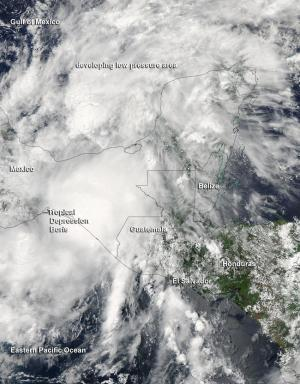 NASA sees Depression Boris mOVING over Mexico with heavy rainfall