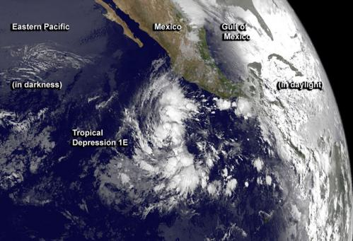 NASA sees first tropical depression of Eastern Pacific hurricane season