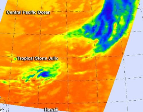 NASA sees no punch left in Tropical Storm Julio