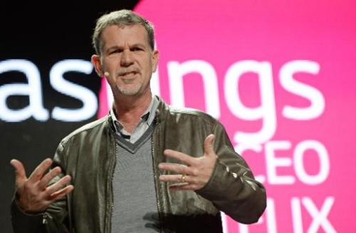 Netflix CEO Reed Hastings speaks at the LG press conference at the Mandalay Bay Convention Center for the 2014 International CES