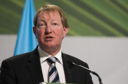 New Zealand's Nick Smith, pictured during a Climate Change conference in Mexico, on December 8, 2010, has rejected calls for gre