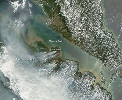 Northern Sumatra dealing with smoke from fires