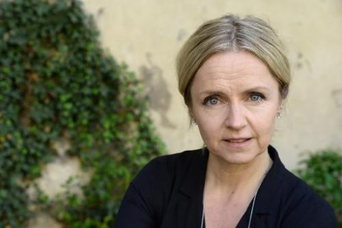 "Norwegian actress Pia Halvorsen, who plays lawyer Inger Engman in the Swedish drama ""Real Humans"", poses at the Swedis"