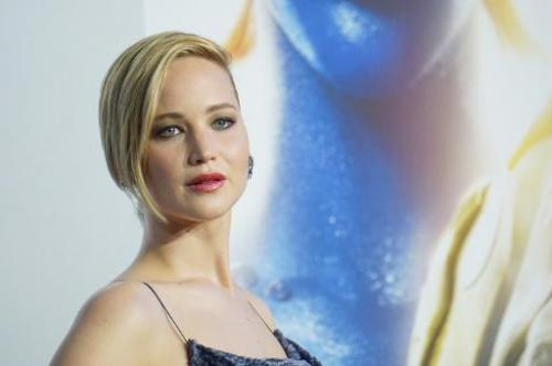 "Oscar-winning American actress Jennifer Lawrence at the ""X-Men: Days Of Future Past"" world premiere in New York on May"