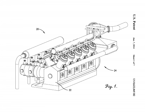 Patented airflow system decreases pollutants from large piston engines