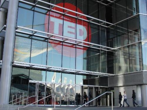 People arrive at Technology Entertainment Design (TED) on March 20, 2014 in Vancouver, Canada