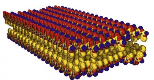 Peptoid nanosheets at the oil-water interface