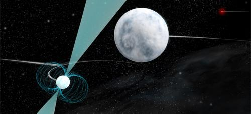 Pulsar in stellar triple system makes unique gravitational laboratory