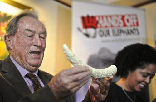 Renowned Kenyan palaeontologist Richard Leakey gives a press conference organised by Wildlife Direct on March 19, 2014 in Nairob