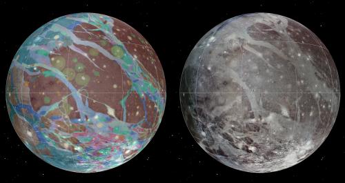 Researchers create first global map of Ganymede