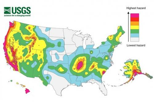 Risk of earthquake increased for about half of US