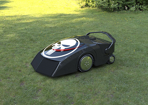 Robotic EcoMow cuts and uses grass as fuel